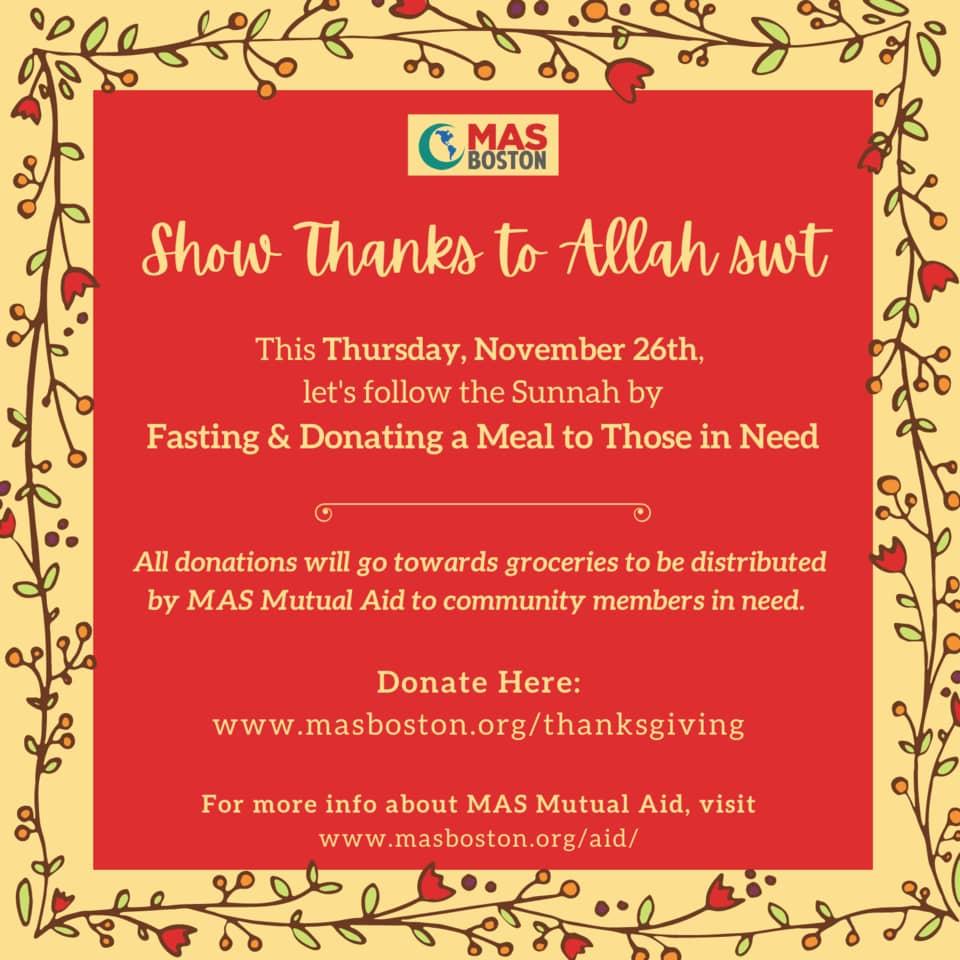MAS Thanksgiving