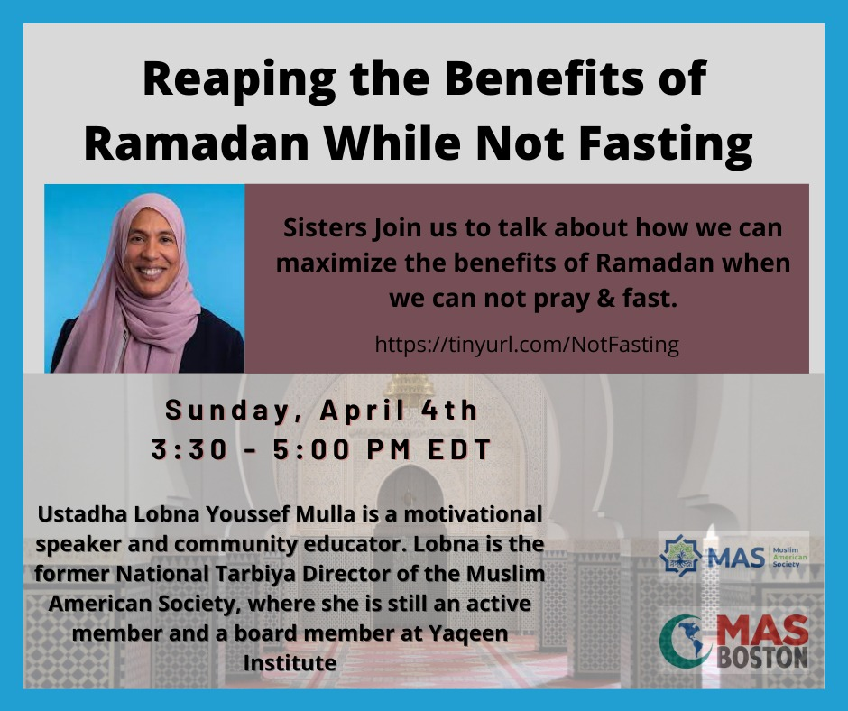 Reaping the benefits of Ramadan while not fasting